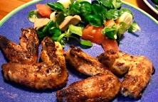 Alitas de Pollo a la Naranja y Tomillo