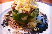Ensalada de Patatas y Judias Verdes Con Vinagreta de Aceitunas Negras