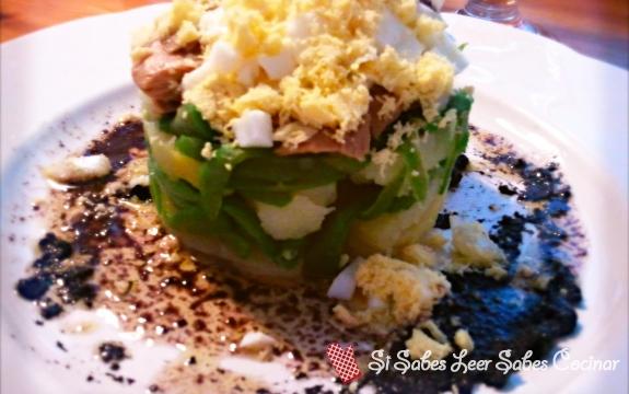 Fotográfia principal Ensalada de Patatas y Judias Verdes Con Vinagreta de Aceitunas Negras